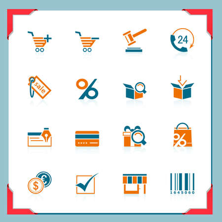 Shopping icons | In a frame series Vector