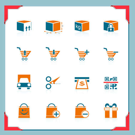 Shopping and logistic icons | In a frame series Stock Vector - 11111478