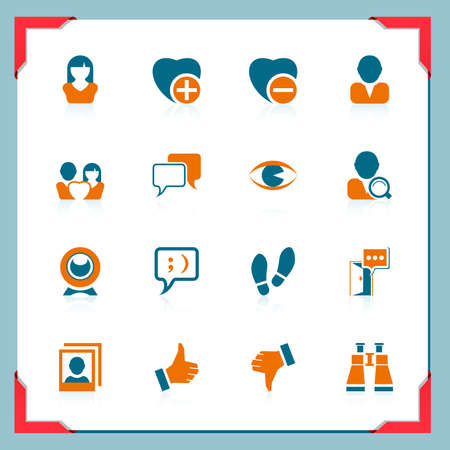 Social and communication icons | In a frame series Vector