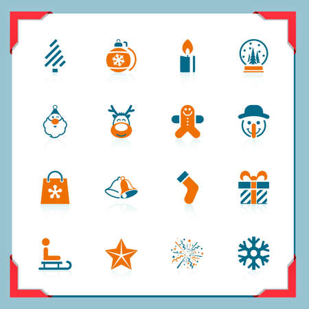 Christmas icons | In a frame series Vector