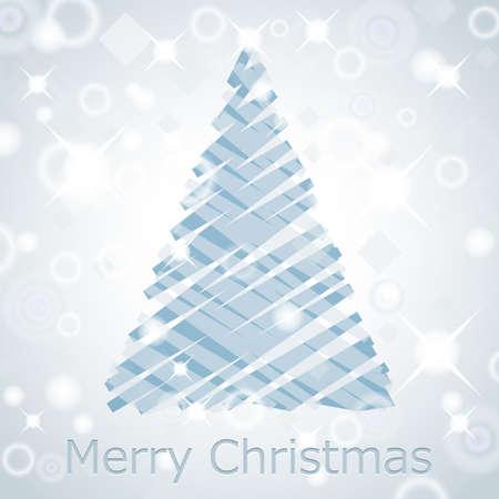 season's greeting: Christmas tree background  Illustration