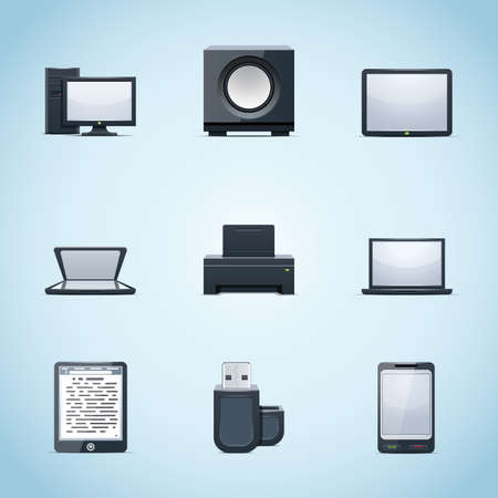 Computer icons Stock Vector - 11662205