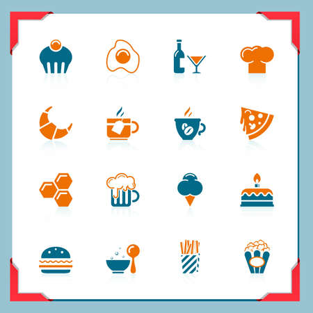 Food icons | In a frame series Vector