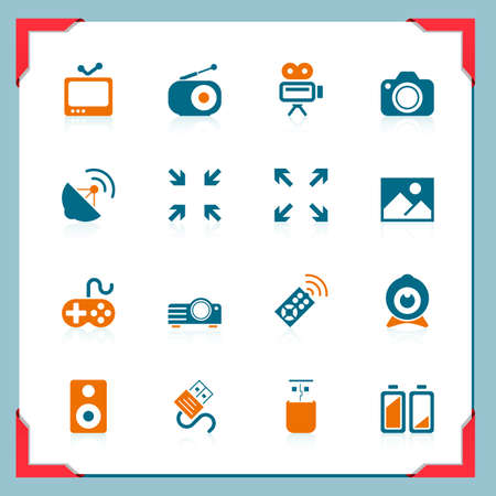 Media icons | In a frame series Vector