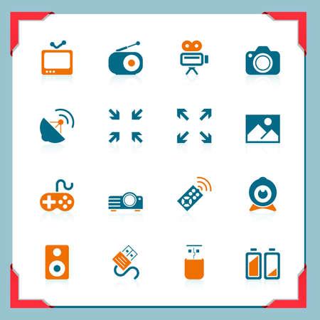 camara de cine: Medios de comunicaci�n iconos   En el marco de una serie