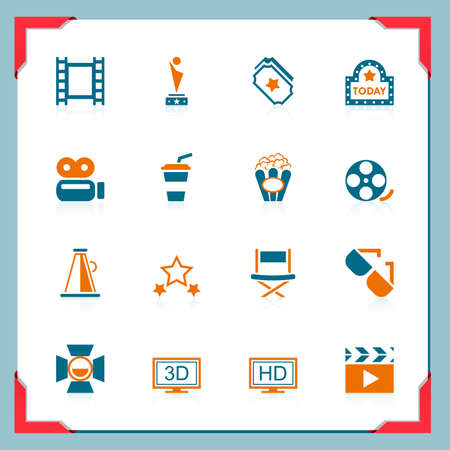 Movie icons | In a frame series Stock Vector - 11662191
