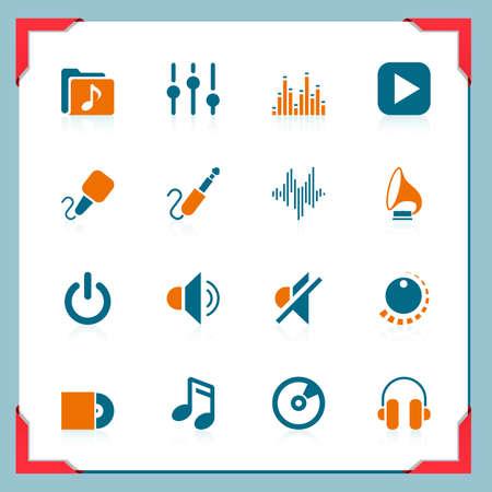 pictogrammes musique: Ic�nes de la musique | Dans une s�rie ch�ssis