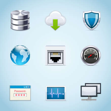 Network icons Stock Vector - 11662212