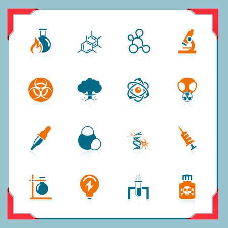 zenuwcel: Wetenschap pictogrammen | In een frame reeks