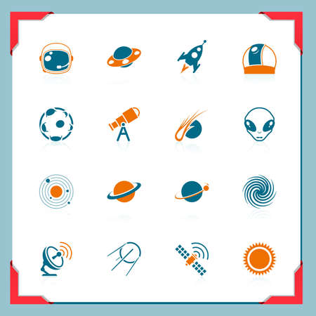 Space icons | In a frame series Vector