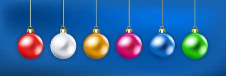 three object: Christmas baubbles Illustration
