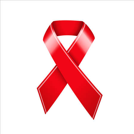 red ribbon: AIDS Awareness Ribbon