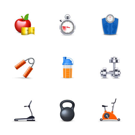 Fitness icons Stock Vector - 12947706