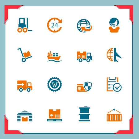 24 hours: Logistic icons Illustration