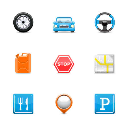 car parking: Road icons
