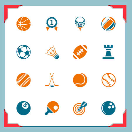 sport balls: Sport icons   In a frame series Illustration