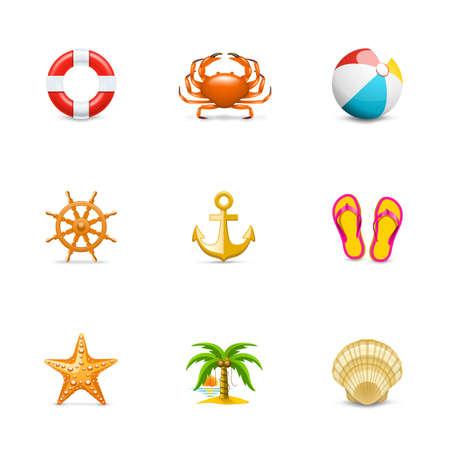 aro salvavidas: Iconos de vacaciones