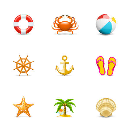 marine ship: Vacation icons