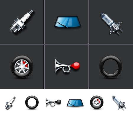 車の部品  イラスト・ベクター素材