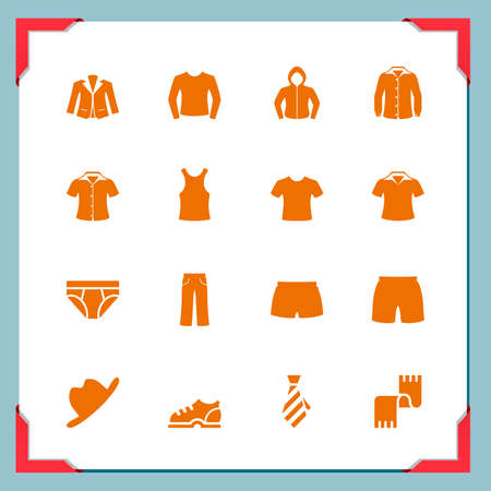 man underwear: Clothes icons   In a frame series