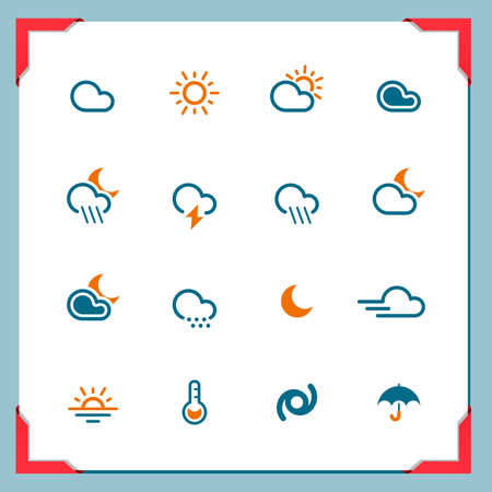 Weather icons   In a frame series Stock Vector - 14372853