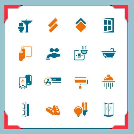 klempner: Renovierungs icons In einem Frame-Serie