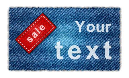 jeans pocket: Jeans on sale background Illustration