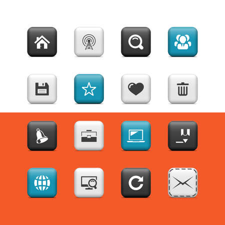 logo informatique: Boutons Web