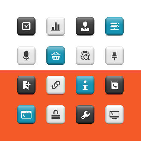 Internet and web buttons Vector