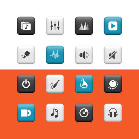 Music buttons Vector
