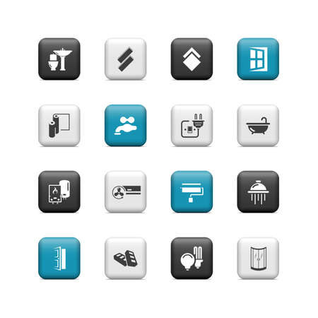 Renovation buttons Vector
