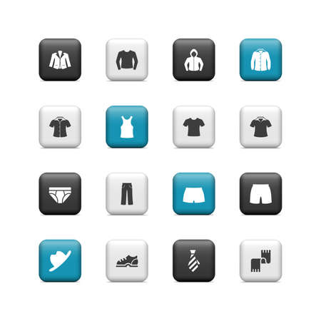 Hombres botones de la ropa Ilustración de vector