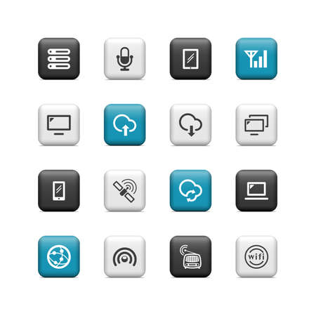 Wireless buttons Stock Vector - 16657231