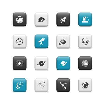 Space buttons Stock Vector - 16657239