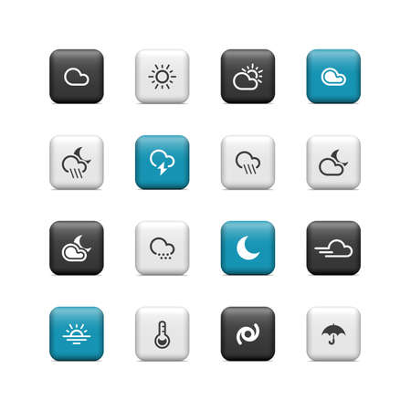 Weather buttons Stock Vector - 16657218