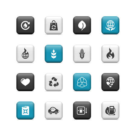 Environmental buttons Vector