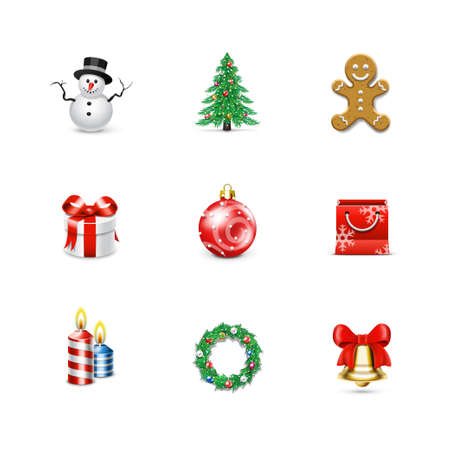 Christmas icons  Azzurro series Stock Vector - 17716827