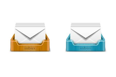 stack of documents: Inbox icons