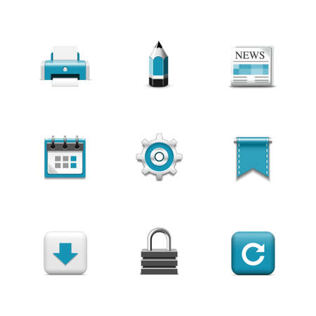 Internet icons  Azzurro series Vector