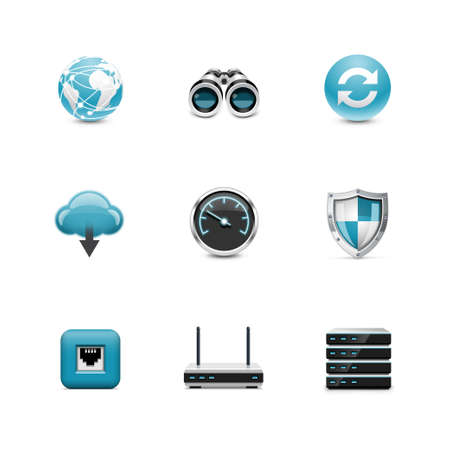 speed test: Network icons  Azzurro series