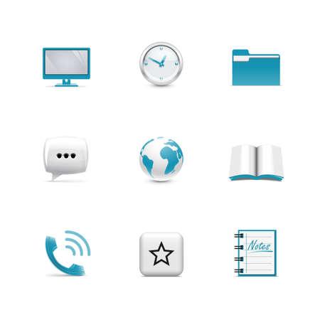 Web icons  Azzurro series