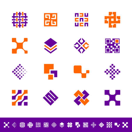 in the square: Abstract design icons