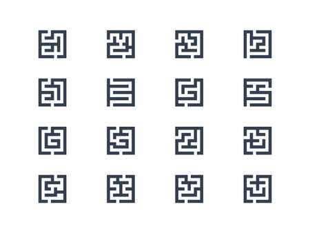 rout: Abstract maze symbols Illustration