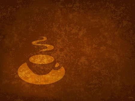 暗コーヒー テクスチャ  イラスト・ベクター素材