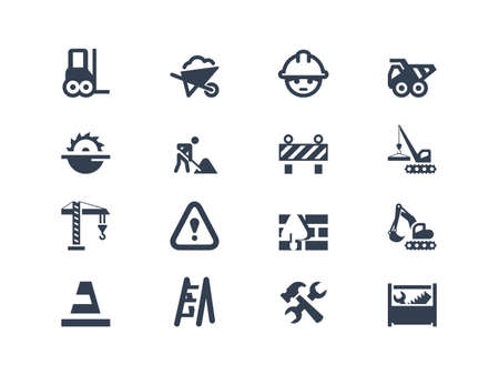 Construction icons Vettoriali