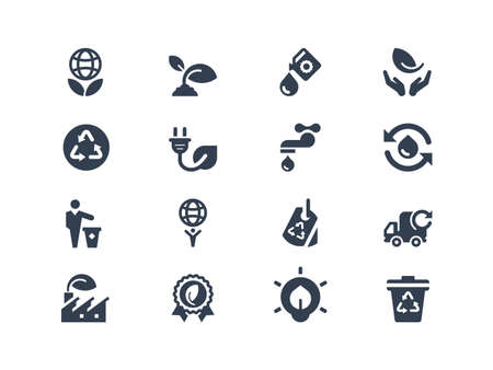 water conservation: Eco icons Illustration