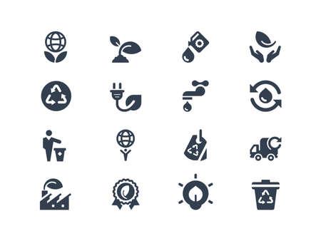 conservacion del agua: Iconos Eco