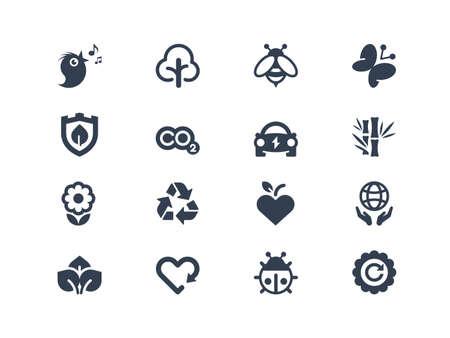 Environment icons Vettoriali