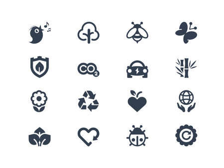 Environment icons Ilustrace