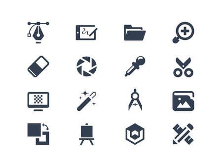 graficos: Iconos del dise�o gr�fico